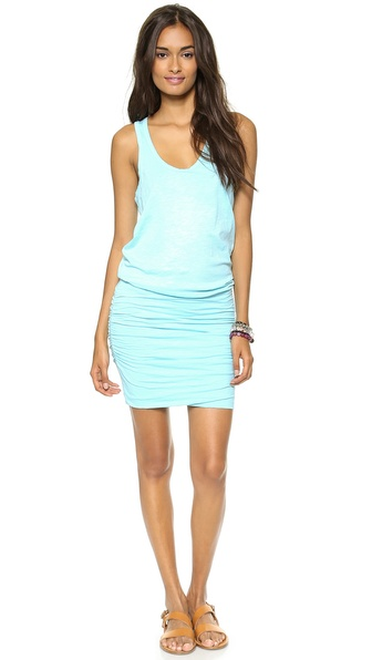 SUNDRY Summer Ruched Tank Dress