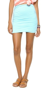 SUNDRY Summer Ruched Skirt