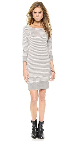 SUNDRY Stripes Sweatshirt Dress