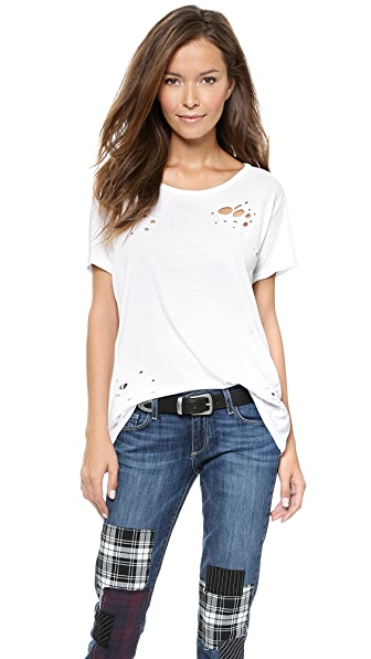 SUNDRY Loose Shredded Tee