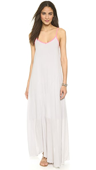 Shop SUNDRY online and buy Sundry Contrast Beach Dress Grey dress online