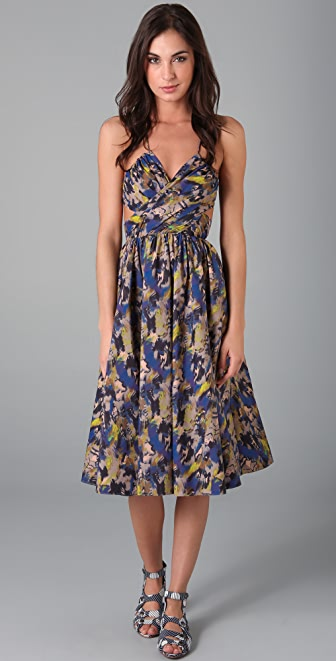 SUNO Crisscross Cutout Dress