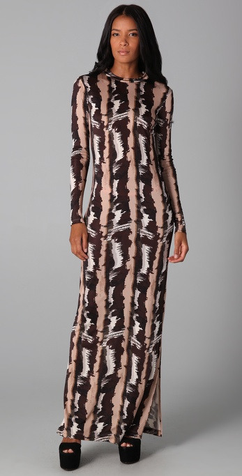 SUNO Long Printed Dress