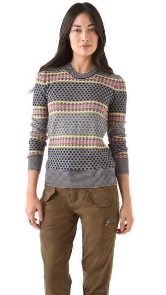 SUNO Stacked Blocks Sweater