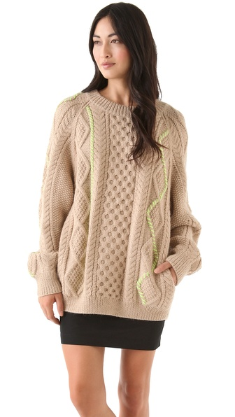 SUNO Fisherman Sweater