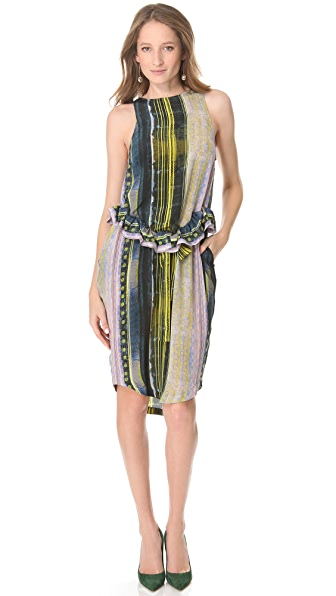SUNO Peplum Tie Dress