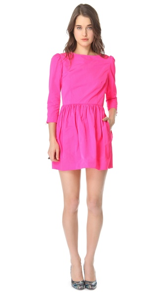 SUNO Fitted Bodice Dress