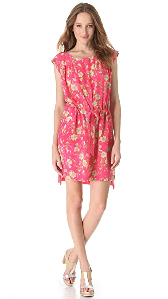 SUNO Drawstring Boxy Tunic Dress