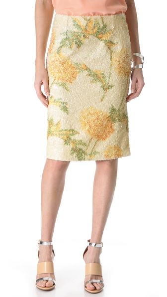 SUNO Sequin Pencil Skirt