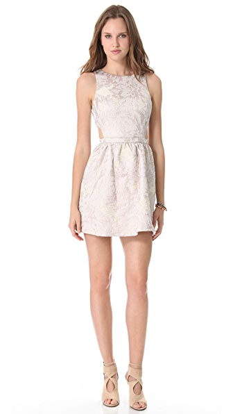 SUNO Side Cutout Jacquard Dress