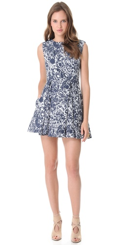 SUNO Deep Pleat Dress