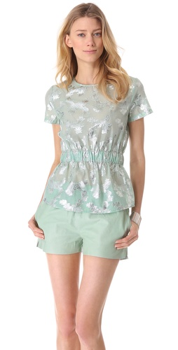 SUNO Cinched Waist Top