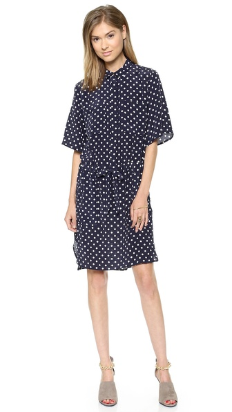 SUNO Drawstring Boxy Dress