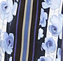 Floating Floral Stripes Blue