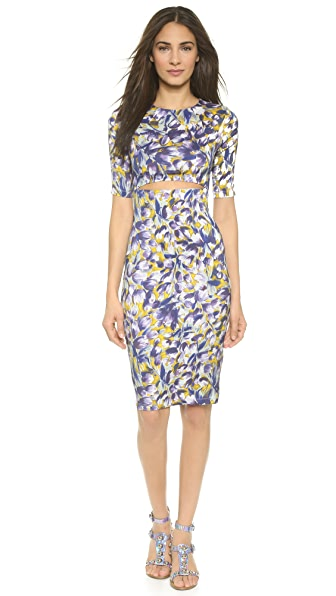 Shop SUNO online and buy Suno Cutout Dress All Over Tulip Large dress online