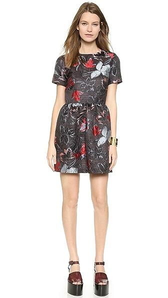 Suno Suno Cap Sleeve Floral Dress (Multicolor)