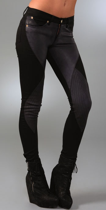 Superfine Leather Super Swirl Jeans