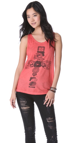 Superfine Cross Print Tank Top
