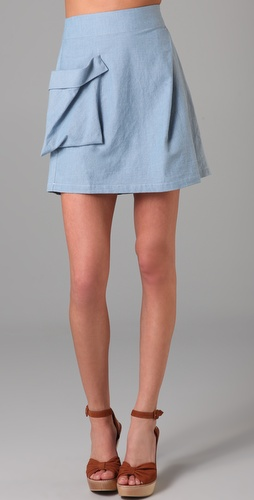 Surface to Air Beacon Chambray Skirt