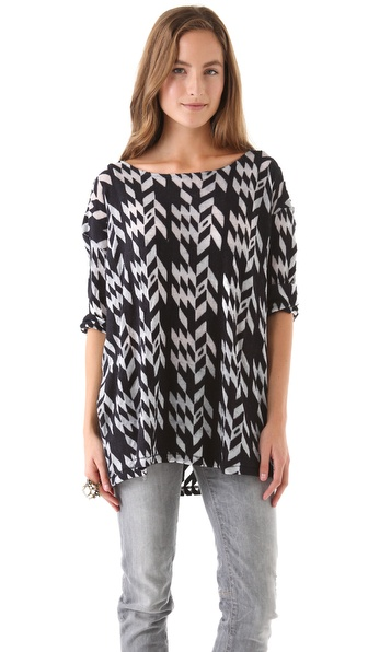 Surface to Air Junk  3/4 Sleeve Dolman Top