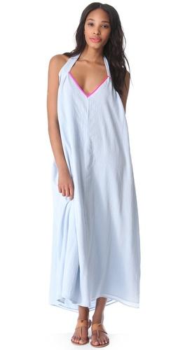 Surf Bazaar Halter Cover Up Maxi Dress