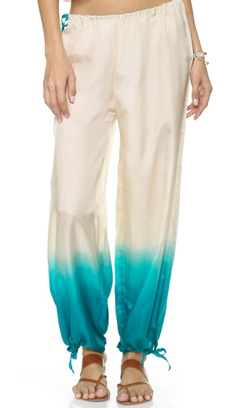 Shop Surf Bazaar online and buy Surf Bazaar Drawstring Pants Shell-Kelp - These lightweight silk Surf Bazaar pants have an ombré dip dye wash, and drawstrings cinch the waist and cuffs. Fabric: Plain weave silk. 100% silk. Dry clean. Imported, India. Measurements Rise: 10.25in / 26.0cm Inseam: 28.25in / 72.0cm Leg opening: 24.5in / 62.0cm Measurements from size XS/S. Available sizes: M/L,XS/S