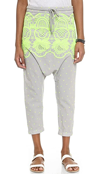 Surf Bazaar Surf Bazaar Embroidered Harem Pants (Brown)