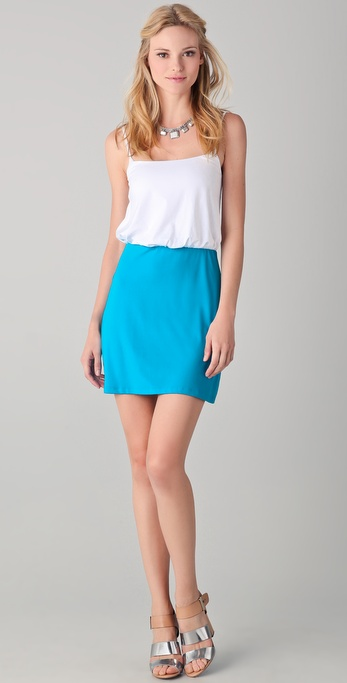 Susana Monaco Ricci Colorblock Mini Dress