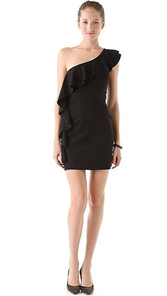 Susana Monaco One Shoulder Flutter Dress