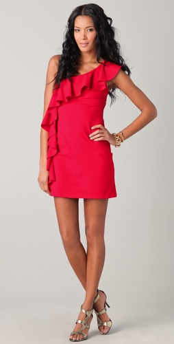 Susana Monaco One Arm Flutter Dress