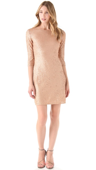 Susana Monaco Sequined Sheath Dress