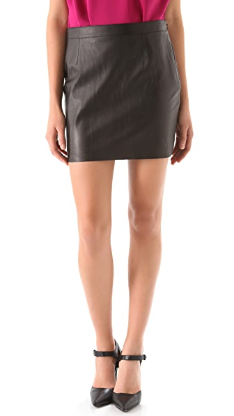 Susana Monaco Leather Miniskirt