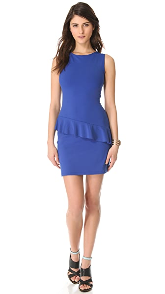 Susana Monaco Asymmetrical Ruffle Dress