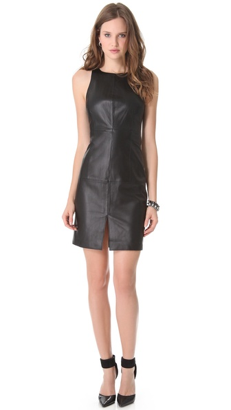 Susana Monaco Leather Dress