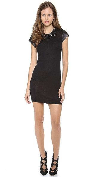 Susana Monaco Leather Sweater Dress