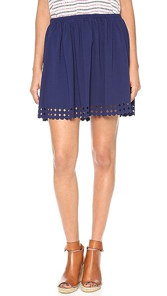 Susana Monaco Marin Laser Cut Skirt