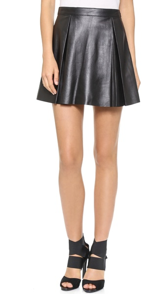 Susana Monaco Jasmine Leather Skirt