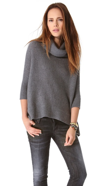 360 SWEATER Sahara Cashmere Cowl Sweater