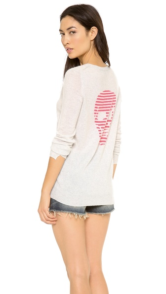 360 SWEATER Stripey Skull Cashmere Sweater