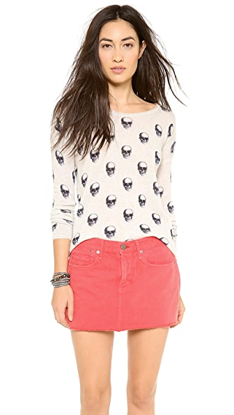 360 SWEATER Jackie Dee Skull Cashmere Sweater