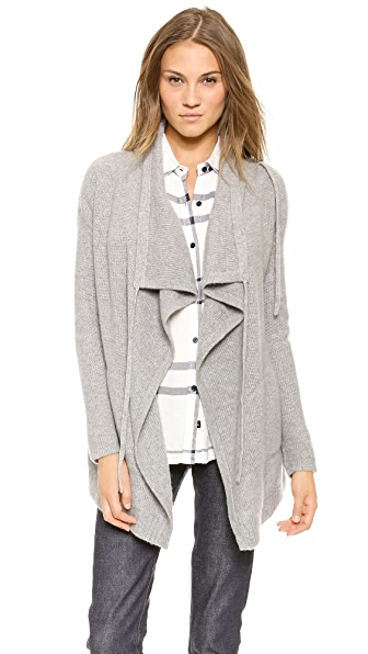 360 SWEATER Payton Cashmere Draped Cardigan