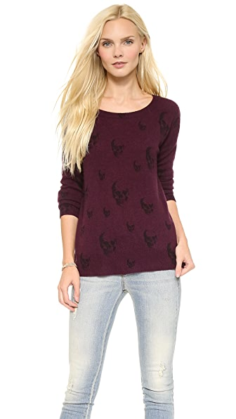 360 SWEATER Multi Dexter Skull Cashmere Sweater