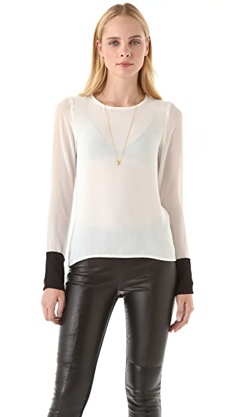 Sandra Weil Garbo Blouse with Slit