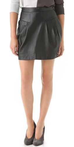 Shop Sandra Weil Celia Leather Skirt and Sandra Weil online - Apparel,Womens,Bottoms,Skirts, online Store