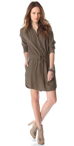 Swildens Iryna Silk Henley Dress