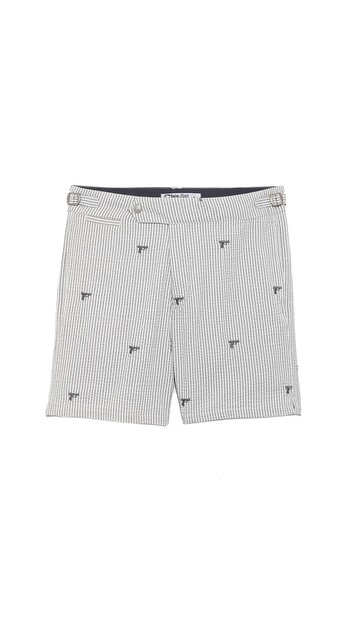 Swim-Ology Seersucker Gun Swim Trunks