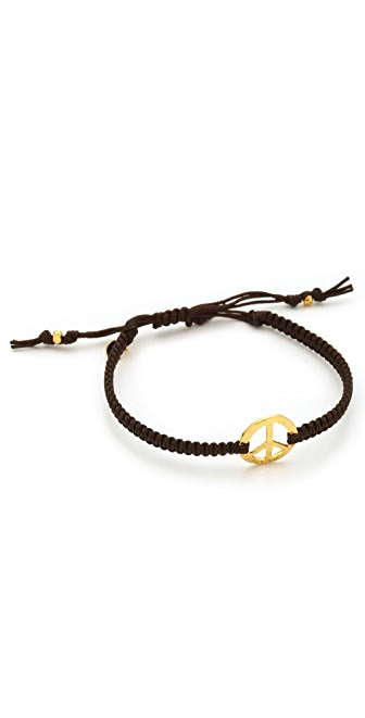 Tai Peace Sign Charm Bracelet