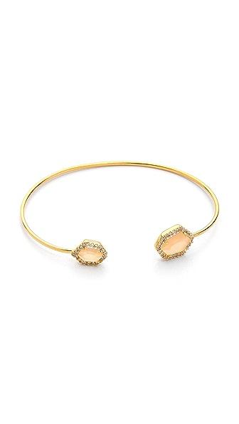 Tai Dual Pave Stone Open Bracelet
