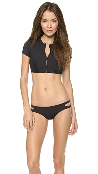 Tavik Swimwear Ava Zip Swim Top