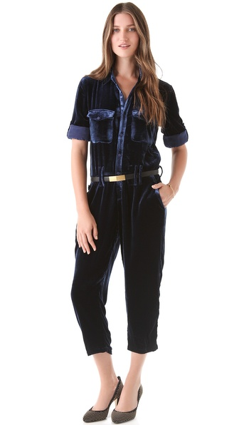 tba (to be adored) Trudi Velvet Jumpsuit